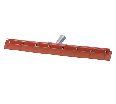 Carlisle Flo-Pac Floor 18 Squeegee Head with Red Gum Rubber blade and Heavy Duty Steel Frame